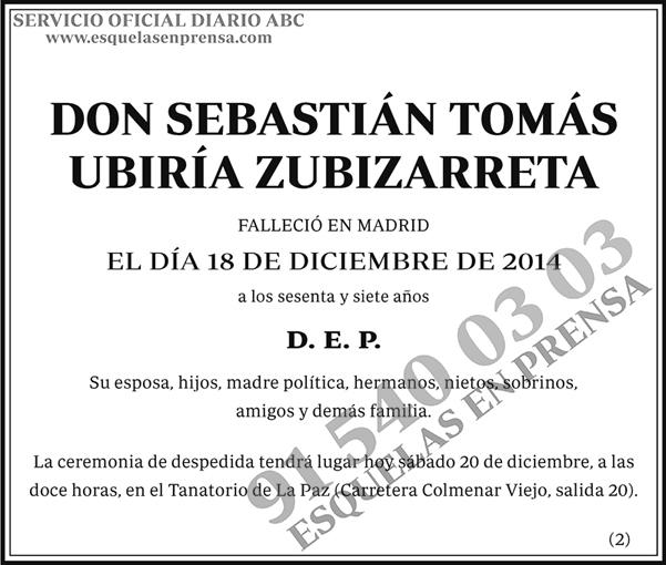Sebastián Tomás Ubiría Zubizarreta